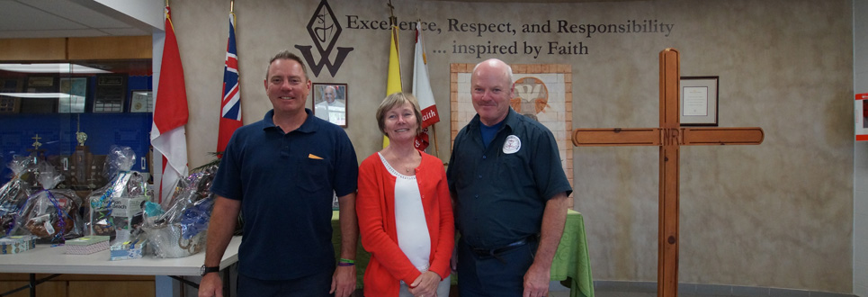 Three St. Wilfred Catholic School staff members.